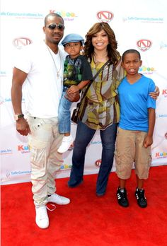 Duane Martin, Tisha Campbell and their two kids Xen and Alijah