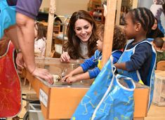 The duchess, pictured in Januaryduring a visit to London Early Years Foundation Stockwell...