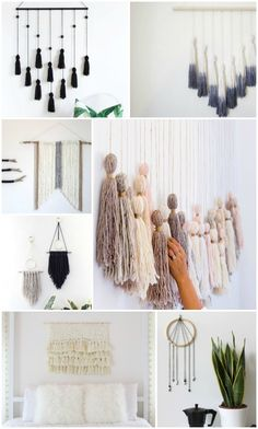 20 Easy DIY Yarn Art Wall Hanging Decor Ideas And Tutorial: Child At Heart  Blog