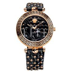 The Biker Watch. Studded leather strap watch. Versace