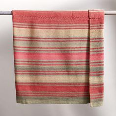 "ONE-OF-A KIND CHACHACUMANI BOLIVIAN THROW -- At the end of your bed, as a color accent on a sofa or chair, or stacked on an open shelf, our singular striped blankets are vintage treasures 20 to 40 years old—colorful, cozy and collectible. Each is unique, handwoven of handspun wool in Bolivia. Dry clean. Catalog exclusive. 52-1/2""W x 61""L."