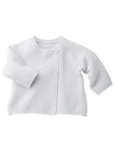 Bébé Cardigan Né Tricot Pale Nouveau Blanc gris Blancgris Vertbaudet raye 4qwTZ