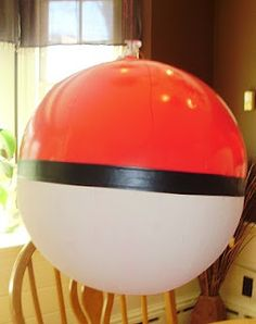 pokemon balls - red beach ball w/painted bottom Pokemon Room, Pokemon Party, Pokemon Birthday, 10th Birthday Parties, Birthday Ideas, Cheap Party Decorations, Fun Activities For Kids, Party Planning, Party Time