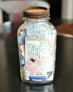 I plan to do this with my movie tickets that I have been saving for 15 years!