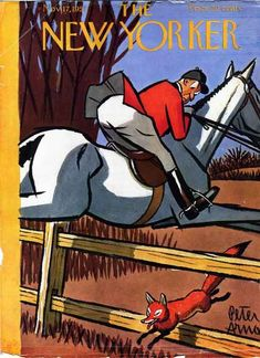 Vintage 'New Yorker' cover: fox hunting