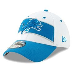 brand new 3a843 4d17f Men s New Era White Blue Detroit Lions Thanksgiving 39THIRTY Flex Hat