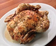 How to cook a perfectly roasted chicken with crispy skin and juicy, flavorful meat!