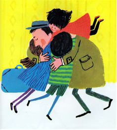"""Daddy is Home by David Blomquist, illustrated by Aliki from the """"Sounds of Home"""" collected by Bill Martin, Jr., 1972."""