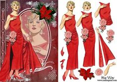 Christmas Party Deco Dress Fashion Reflections Decoupage