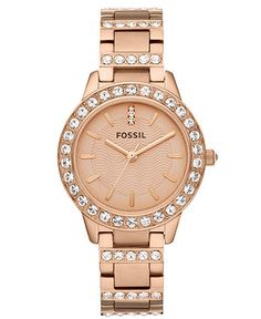 Rose Gold Fossil Watch!!! So Pretty! I Want One So Bad, On My Wishlist For Christmas!! :)