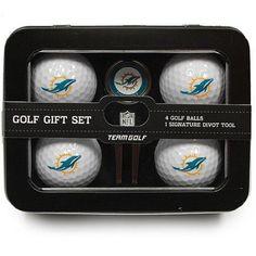 Team Golf NFL Miami Dolphins 4 Golf Ball And Divot Tool Set, Blue