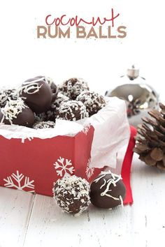 Low carb dairy-free rum balls are a holiday classic made healthy! Made with organic chocolate and coconut, they pack a delicious punch. These delicious keto rum balls are perfect for gift-giving.