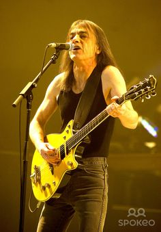 Malcolm Young of AC/DC performing live during their Black Ice World Tour