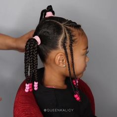 braids for kids - Hairstyles / braids for black women Little Girls Natural Hairstyles, Toddler Braided Hairstyles, Black Kids Hairstyles, Baby Girl Hairstyles, Children Hairstyles Girls, Braids For Children, Toddler African American Hairstyles, Curly Hairstyles, Crochet Hairstyles For Kids