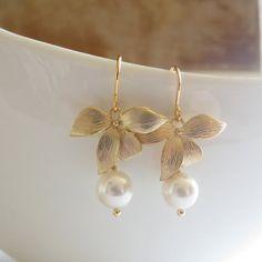 Dangle Earrings Drop Earrings Bridesmaid by ellejewels on Etsy