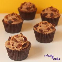 cupcake de ron pasas con chocolate