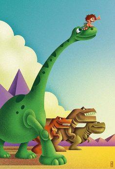 The Good Dinosaur tribute by Kaz Oomori Fantasia Disney, Giant Dinosaur, The Good Dinosaur, Disney Pixar Movies, Disney Fan Art, Le Voyage D'arlo, Arlo Und Spot, Mood Colors, Computer Animation