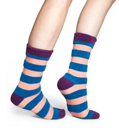 Cool socks with fussy stripe for fun people at HappySocks.com