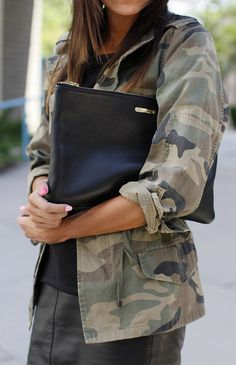 Oversized leather clutches.
