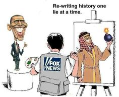 """Fox """"News"""" re-writing history one lie at a time. Fox paints their own picture, that is NOT news. News is relaying facts and Fox is incapable of doing it. Troll, Matt Drudge, Fox Face, Political Cartoons, Political Satire, Political Views, Equal Rights, Faith In Humanity, Fake News"""