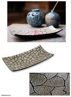 World Menagerie Frimunt Earthquake Eggshell Mosaic Vanity Tray Eggshell Mosaic, Mosaic Tray, Mirror Vanity Tray, Polymer Beads, Arts And Crafts, Diy Crafts, Slab Pottery, Japanese Design, Egg Shells