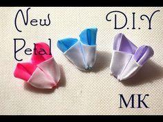 Двуцветный лепесток/New Petal Kanzashi/Tutorial/D.I.Y-Pap - YouTube