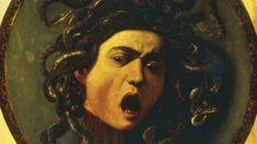 Medusa, Caravaggio, oil on canvas mounted on wood, 1597 Caravaggio, Michelangelo, Hieronymus Bosch, E Online, Italian Renaissance Art, Italian Art, Cultura Pop, Ancient Greece, Dark Art