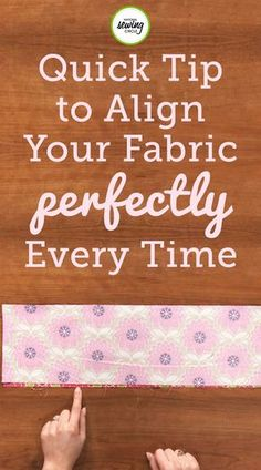 Aurora Sisneros provides unique tips on how to align your fabric correctly. learn how to use your fingernails like claws to scratch over your fabric. Use this technique at home to ensure your fabrics are aligned.