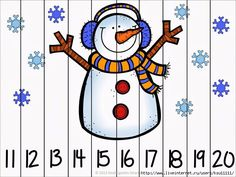 Winter Fun Counting Number Puzzles - Kindergarten Smarts - Winter fun counting number puzzles – counting by and – differentiated for all lear - Numbers Kindergarten, Numbers Preschool, Math Numbers, Preschool Math, Homeschool Kindergarten, Counting Puzzles, Number Puzzles, Maths Puzzles, Skip Counting