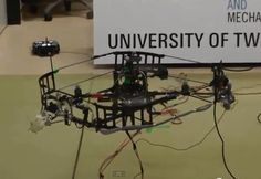 Quadcopter experiment for metal material robot inspection University of Technology Twente Netherland.