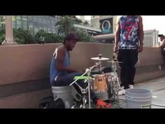 This Vegas Street Drummer is the Best You'll Ever See, and He Even Has Time for a Sip of Hennessy Mid-Song - Cheezburger