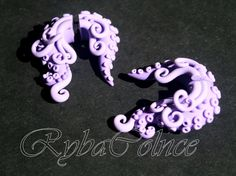 The pale purple Fake ear tentacle gauge Faux by RybaColnce