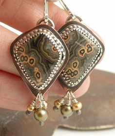 Bezel Set Earrings by Simply_Adorning, via Flickr