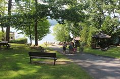 Usher's Park in Lake George