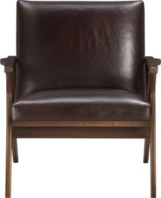 Cavett Leather Chair  | Crate and Barrel  http://www.crateandbarrel.com/furniture/chairs/cavett-leather-chair/s688978