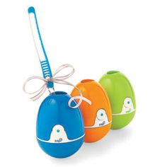Zapi Toothbrush Holder ---  A germ killer has never looked so cute. Keep this topple-proof toothbrush holder sinkside and hit the button once a day to activate a UV ilght that destroys nearly 100 percent of bacteria.  $29.95 each (green is unavailable)   violight.com