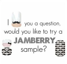Hey ladies!! Who would like to try a free sample? Email me at zerospin120@gmail.com and provide your addy and I will get it out. If you like what you receive, feel free to shop around at www.phabulousnails.jamberrynails.net