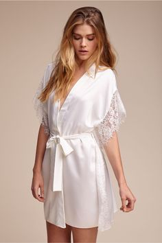 BHLDN Selena Robe in Bride Bridal Lingerie | BHLDN