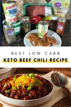While following a Keto or gluten free way of eating there is a way to still have delicious beef chili and keep it low carb without any beans. Try out this keto friendly beef chili recipe and let us know what you think! #ketorecipe #ketochili #chilirecipe Beef Chili Recipe, Chili Recipes, Soup Recipes, Healthy Recipes, Keto Soup, Homemade Soup, Creamed Mushrooms, Low Carb Keto, Lchf
