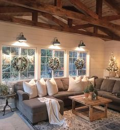 Rustic living room!