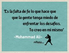 #motivación #inspiración Muhammad Ali, Movies, Movie Posters, Ideas, Positive Messages, Blue Prints, Films, Film Poster, Cinema