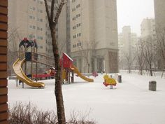 snowy playground!