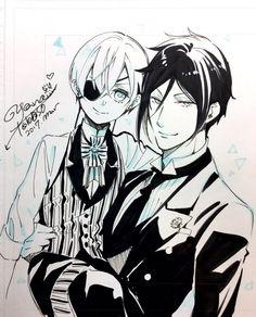 Black Butler : Dessins de la mangaka pour le  White Day !
