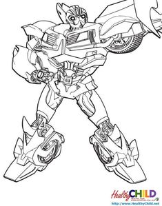 Bumble Bee Transformer Coloring Page AZ Coloring Pages | Home ...