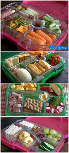 Tips for simple, healthy and delicious packed school or daycare lunches for kids. ---I'd eat this myself!