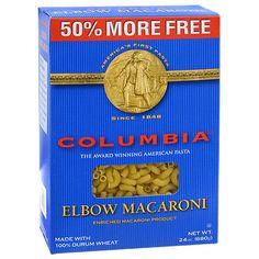 Columbia Elbow Macaroni, 24-oz. Boxes