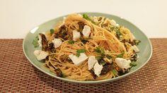 Mario Batali's Spaghettini with Spicy Fried Zucchini