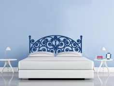Vinyl Headboard wall decal. A little girly, but simple enough I might get some agreement on it.