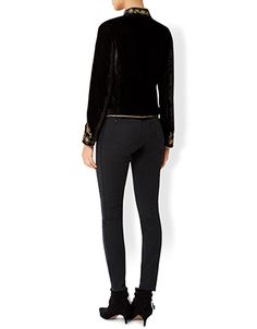 Offering a new twist on a denim classic, our Selina skinny jeans are designed with contrast side panels for leg-lengthening appeal. Features a five-pocket de...