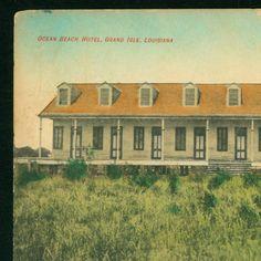 1909 - Ocean Beach Hotel, Grand Isle, Louisiana :: LSU Libraries Postcard Collections